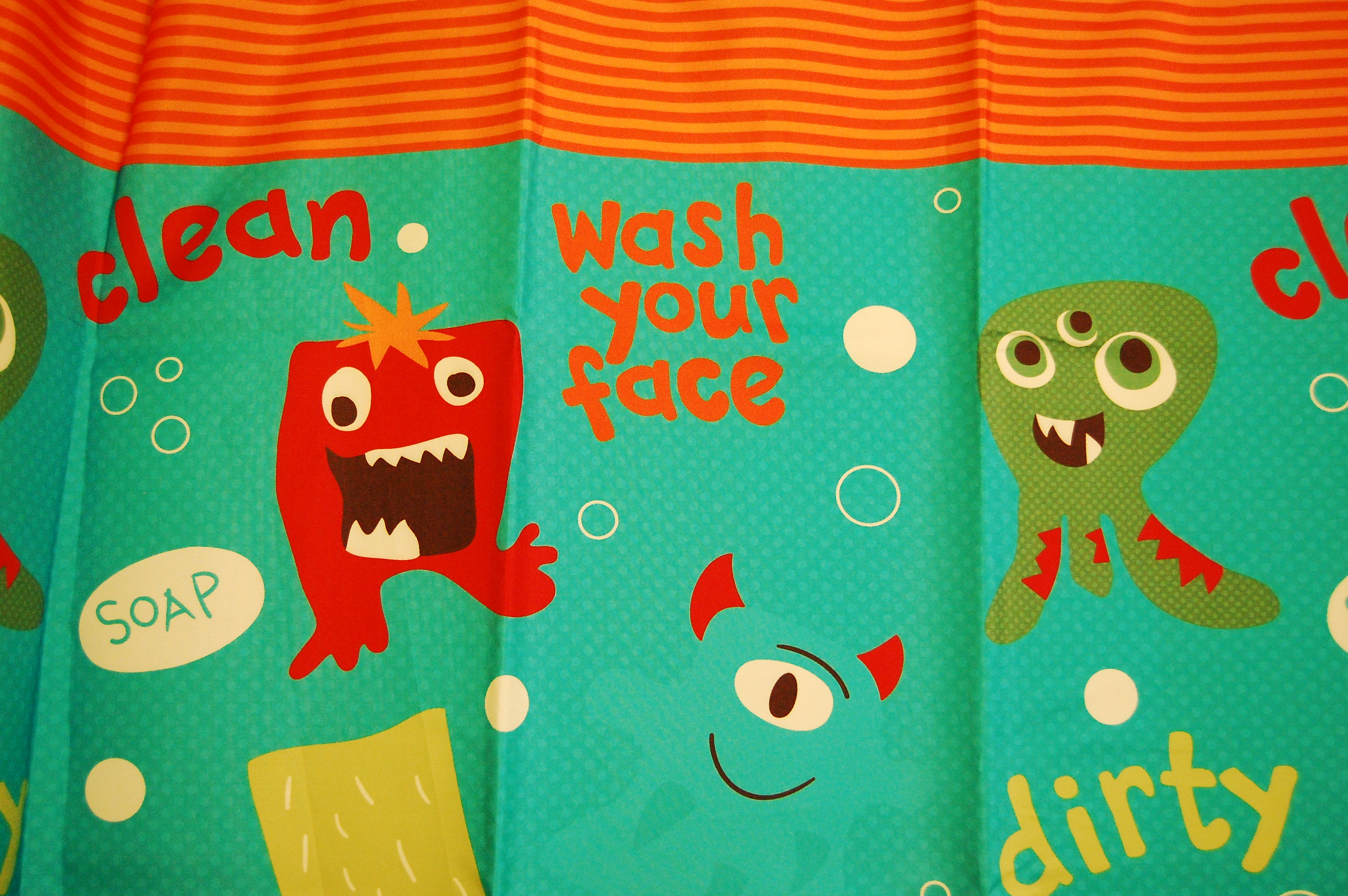 Awesome Shower Curtain And Toddler Bathroom Monsters | Momrhapsodyu0027s Blog